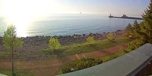 Embankment, view of the lighthouse -  live webcam , Rhode Island Newport