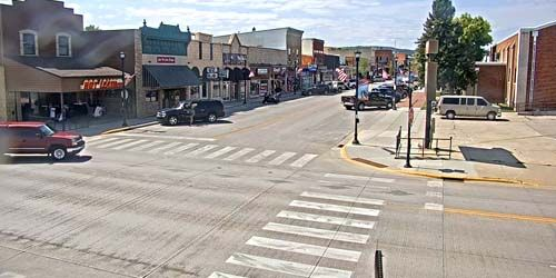 Main St from Sturgis Motorcycle Museum -  live webcam , South Dakota Sturgis
