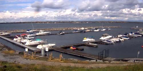 Madison Barracks Marina en Black River Bay Lake Ontario -  Webcam , Nueva York Watertown