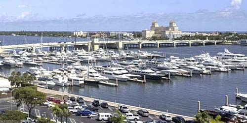 Puerto deportivo de Palm Harbor, Puente Flagler Memorial -  Webcam , Florida West Palm Beach