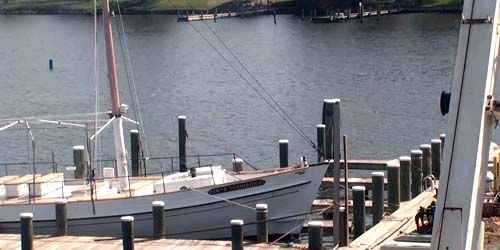 Marina with yachts at Saint Michaels on the Miles River -  live webcam , Maryland Baltimore