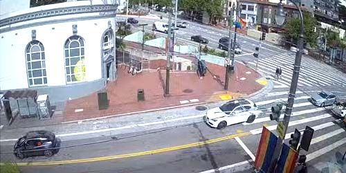 Traffic on Market Street -  live webcam , California San Francisco