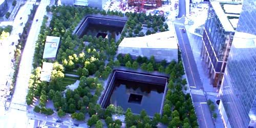 National Memorial and Museum September 11 -  live webcam , New York New York