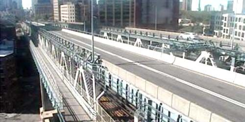 Manhattan bridge -  live webcam , New York New York