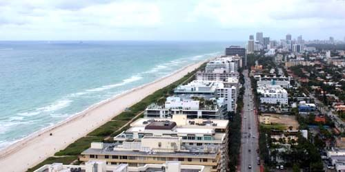 Mid-Beach aerial view -  live webcam , Florida Miami