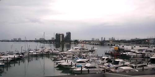 Yacht mooring -  live webcam , Florida Miami