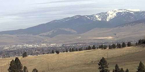Mountain views in the area -  live webcam , Montana Missoula