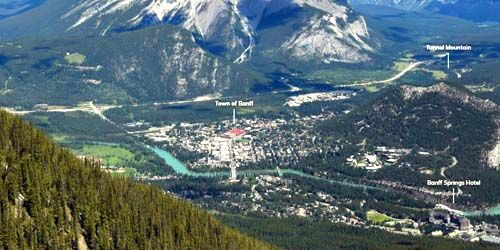 Panorama of the resort town of Banff -  live webcam , Alberta Calgary