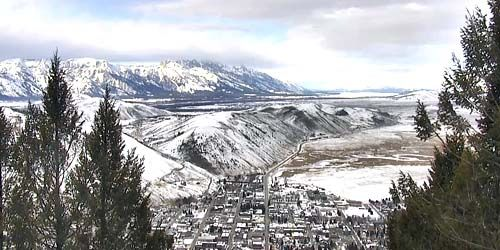 Panorama desde arriba -  Webcam , Wyoming Jackson