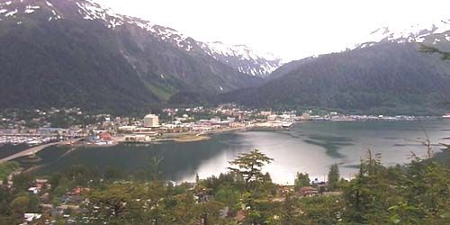 Panorama from above -  live webcam , Alaska Juneau
