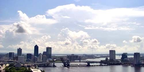 Panorama from above -  live webcam , Florida Jacksonville