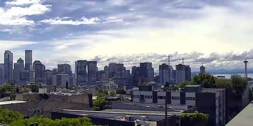 Panorama desde una altura (cámara PTZ) -  Webcam , Washington Seattle