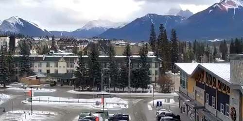 Panorama from above -  live webcam , Alberta Canmore