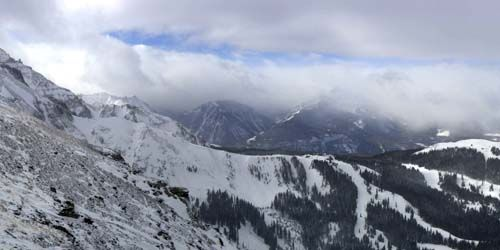 Panorama of mountains in the vicinity -  live webcam , Colorado Telluride