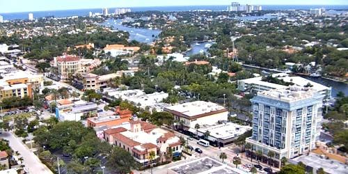 Panorama from above -  live webcam , Florida Fort Lauderdale