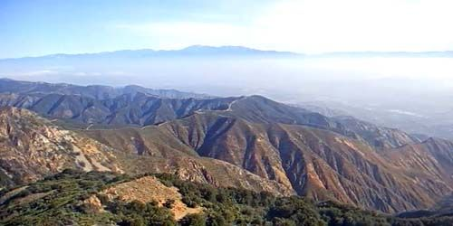 Panorama from the top of Santiago Peak -  live webcam , California Los Angeles