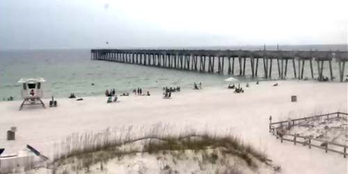 Gran muelle en la playa -  Webcam , Florida Pensacola