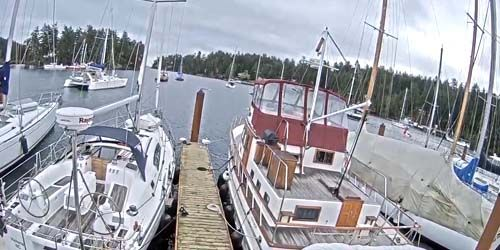 Yacht pier -  live webcam , British Columbia Nanaimo
