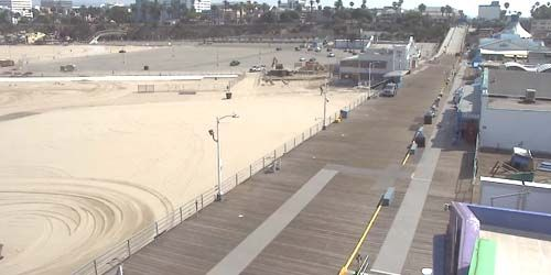 Santa Monica Pier, beach panorama -  live webcam , California Los Angeles