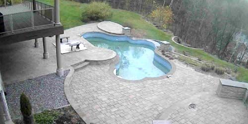 Pool in a country villa -  live webcam , Province of Quebec Quebec