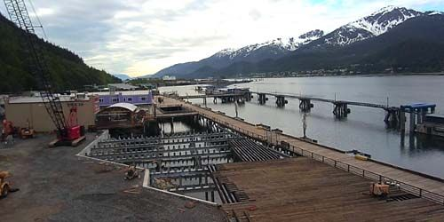 Seaport pier -  live webcam , Alaska Juneau