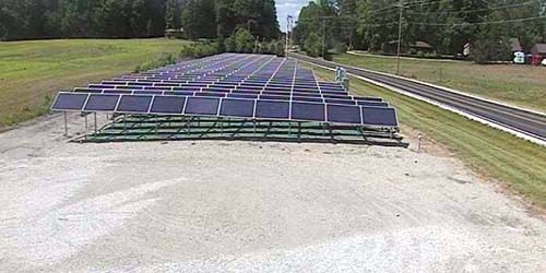 Solar power station -  live webcam , Indiana Indianapolis