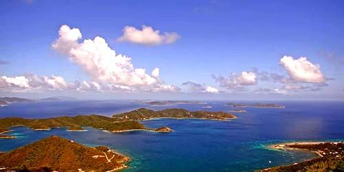 PTZ camera from a height -  live webcam , Virgin Islands Coral Bay