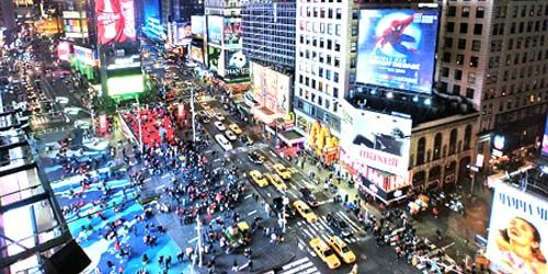Manhattan Times Square PTZ Camera -  live webcam , New York New York