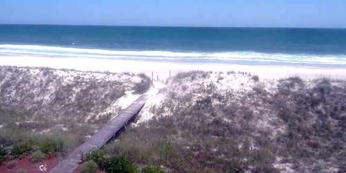 Sandy wild beach -  live webcam , North Carolina Wilmington