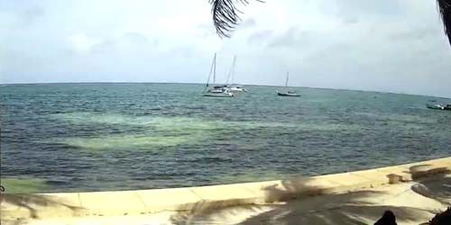 Caribbean seafront -  live webcam , Belize District San Pedro