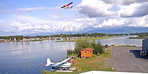 Lake Hood Seaplane Base -  live webcam , Alaska Anchorage
