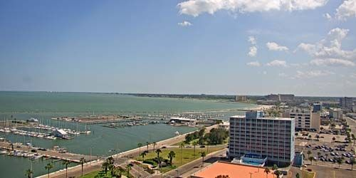 Berths with yachts, seaport -  live webcam , Texas Corpus Christi