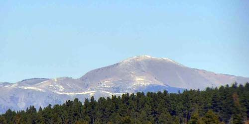 Sierra Blanca Peak -  live webcam , New Mexico Cloudcroft