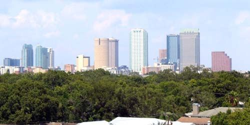 View of skyscrapers -  live webcam , Florida Tampa