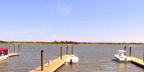 muelle para el transporte de agua en Sloop Point -  Webcam , North Carolina Wilmington