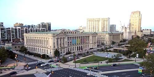 Logan Square, Parkway Central Library -  live webcam , Pennsylvania Philadelphia