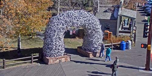 Plaza de la ciudad -  Webcam , Wyoming Jackson