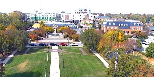 Square in front of the city administration -  live webcam , Indiana Carmel