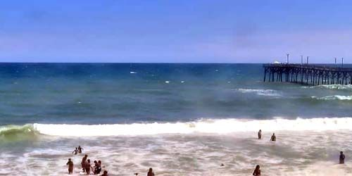 Playa Surf City, vista al muelle -  Webcam , North Carolina Wilmington