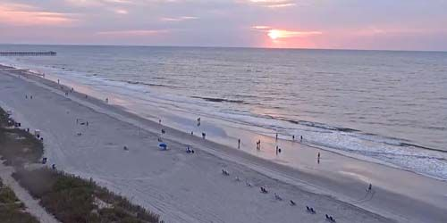Sunrises, coastline with sandy beaches -  live webcam , South Carolina Myrtle Beach
