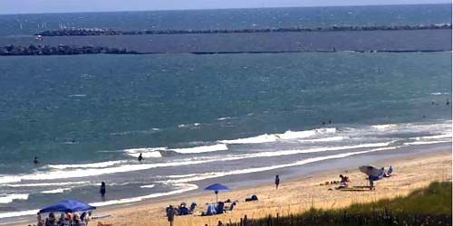 Surf beach -  live webcam , North Carolina Wilmington