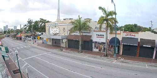 Tower Theatre, traffic on Tamiami Trail -  live webcam , Florida Miami