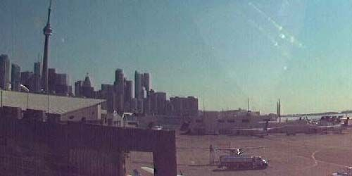 CN Tower from Billy Bishop Airport -  live webcam , Ontario Toronto