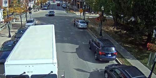 Transport movement on city streets -  live webcam , Indiana Carmel