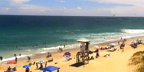 Turistas en la playa de Wrightsville -  Webcam , North Carolina Wilmington