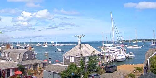 berth with yachts on Martha's Vineyard island -  live webcam , Massachusetts New Bedford