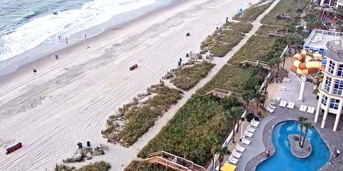Waterpark on the Atlantic Ocean -  live webcam , South Carolina Myrtle Beach