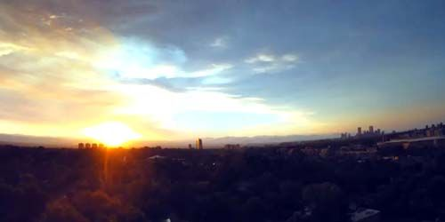 Beautiful sunsets, view to the west -  live webcam , Colorado Denver