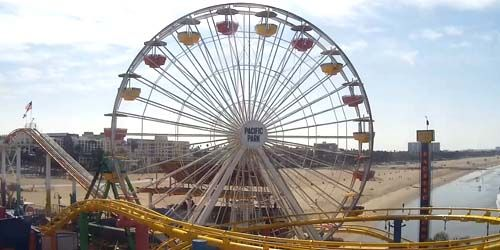 Grande roue dans Pacific Park -  Webсam , California Los Angeles