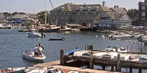 Berth with boats at Woods Hole -  live webcam , Massachusetts New Bedford